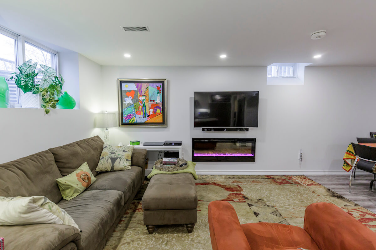living room design with TV