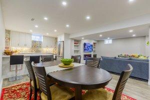 design renovation in the living room kitchen