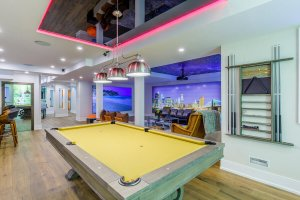 billiard table in the house